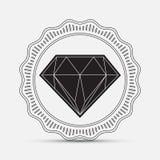 Diamante, siluetta Immagine Stock