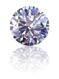 Diamante su priorità bassa bianca lucida Fotografia Stock Libera da Diritti