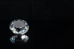 Diamante su priorità bassa nera Fotografia Stock Libera da Diritti