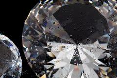 Diamante su priorità bassa nera Fotografia Stock