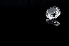 Diamante su priorità bassa nera Fotografie Stock
