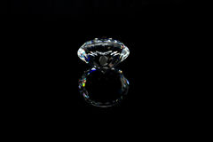 Diamante su priorità bassa nera Immagine Stock Libera da Diritti