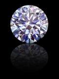 Diamante su priorità bassa nera lucida Immagine Stock
