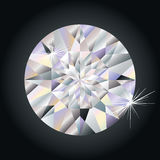 Diamante sul nero Immagini Stock