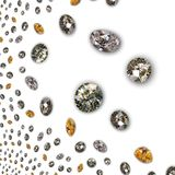 Diamante - textura dos diamantes Imagem de Stock Royalty Free