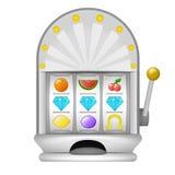 Diamante três que ganha no objeto da máquina do jogo Fotos de Stock