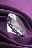 Diamante e tela de seda Imagem de Stock Royalty Free