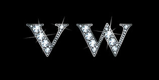 Diamante V e W Fotografia de Stock