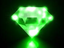 Diamante verde Fotografía de archivo libre de regalías
