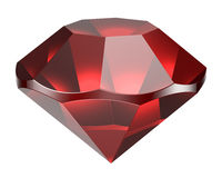 Diamante vermelho Imagem de Stock