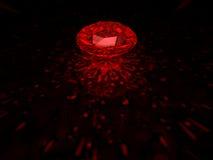 Diamante vermelho Foto de Stock