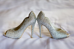 Diamante wedding shoes Royalty Free Stock Photo