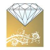Diamante y oro Imagen de archivo libre de regalías