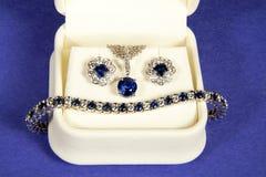 Diamante y zafiro Foto de archivo libre de regalías