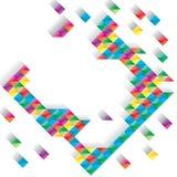 Diamanteffect kleurrijke kaart Stock Afbeelding