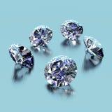 Diamanten Royalty-vrije Stock Afbeeldingen