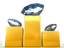 Diamanten auf pedistal Stockfotos