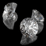 Diamanten auf schwarzer Oberfläche vektor abbildung
