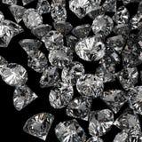 Diamanten 3d in samenstelling als concept Stock Foto