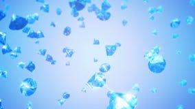 Diamanten Dalende Achtergrond (Lijn) vector illustratie