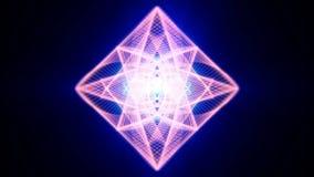 Diamanten die op een glanzende zwarte oppervlakte vallen stock illustratie