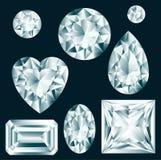 Diamanten eingestellt Lizenzfreies Stockbild
