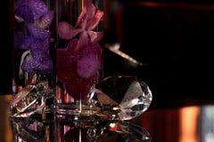 diamanten en bloemen royalty-vrije stock foto's