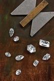 Diamanten en hulpmiddel Stock Fotografie