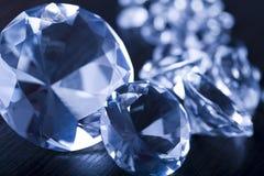 Diamanten - Halfedelstenen Stock Fotografie