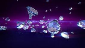 Diamanten het vallen stock illustratie