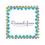 Diamanten inramar Royaltyfria Bilder