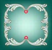 Diamanten inramar Royaltyfri Fotografi