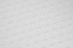 Diamanten masern auf Illustration des Grayscalehintergrundes 3D Stockbilder