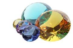 Diamanten met het knippen van weg Stock Foto