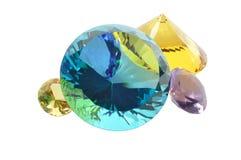 Diamanten met het knippen van weg Stock Foto's