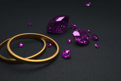 Diamanten met ringen Stock Illustratie