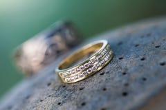 Diamanten op een rij Stock Afbeelding