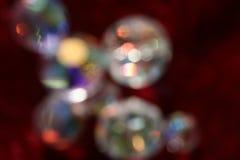 Diamanten op Rood royalty-vrije stock foto