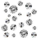 Diamanten op wit Stock Afbeelding