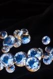 Diamanten op zwarte Royalty-vrije Stock Fotografie