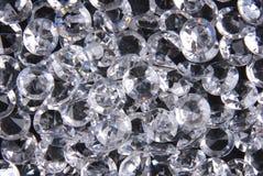 Diamanten op zwarte achtergrond Royalty-vrije Stock Foto's