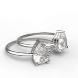 Diamanten ringer illustration 3d Royaltyfri Foto