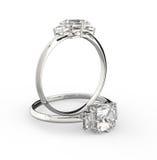 Diamanten ringer illustration 3d Arkivbild