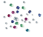 Diamanten sind der beste Freund eines Mädchens stockbild