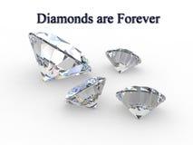 Diamanten sind für immer - Konzept Stockbild
