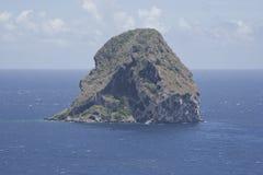 Le Diamant i Martinique royaltyfria bilder