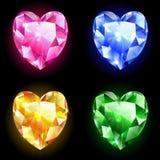 Diamanten van hart Stock Afbeelding