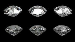 Diamanten zwarte achtergrond Stock Afbeeldingen