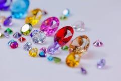 diamanter i vit flanell på isen röker Royaltyfri Fotografi