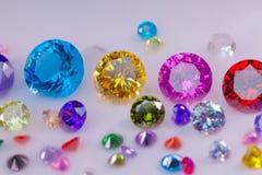 diamanter i vit flanell på isen röker Royaltyfria Foton